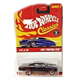 1967 PONTIAC GTO / Dark BLUE / HOT WHEELS CLASSICS Series 2 #14 OF 30 / 1:64 Scale Die-Cast Collectible / 2005