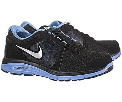 Women's Nike Dual Fusion Run Running 525752 006 Black Platinum University Blue