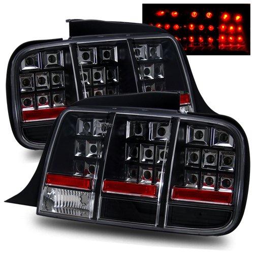-Black LED 2006 Dodge MAGNUM-LH Post mount spotlight Driver side WITH install kit 6 inch