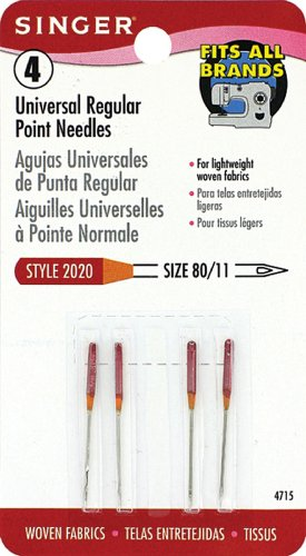 Singer Regular Point Machine Needles, Size 80/11, 4-Pack (Hand Quilting Needles Size 11 compare prices)