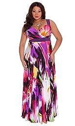 IGIGI Women\'s Plus Size Tropical Beauty Maxi Dress 14/16