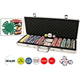 Da Vinci Premium Set of 500 11.5 Gram Diamond Suited Poker Chips W/6 Dealer Buttons, Cards, & Dice