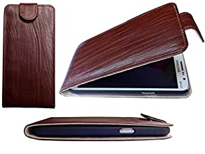 ATV PU Leather BROWN Flip Case Cover For Lenovo A7000