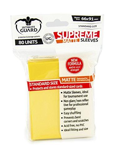 Supreme Matte Yellow Sleeves (80)