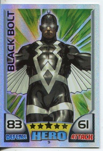 MARVEL HERO ATTAX ULTRA RARE RAINBOW CARD #9 BLACK BOLT [Toy]