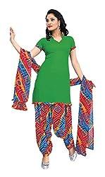 Abida Art Crepe Green Color Unstrich Salwar Suit