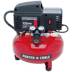 PORTER-CABLE PCFP02003 Pancake Compressor 135 PSI, 0.8 HP, 3.5-Gallon