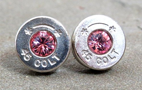 bullet-earrings-silver-45-colt-and-swarovski-rose-quartz-pink-crystals