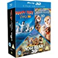 Happy Feet 2/Yogi Bear/Legend Of The Guardians Triple Pack [Blu-ray 3D + Blu-ray]