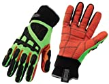 ProFlex 925F(x)CP Cut, Puncture and Dorsal Gloves, 3 X-LARGE, Lime by Ergodyne