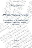 Words Without Songs (SOAS Musicology) Volume 3 (0728602091) by O. Wright