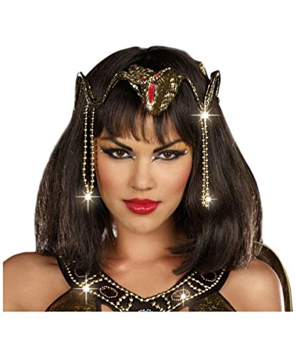 Egyptian Queen Cleopatra Snake Crown Tiara Headpiece Halloween Costume