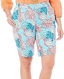 Caribbean Joe Plus Reef Print Skimmer Shorts