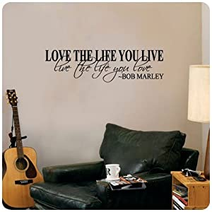Bob Marley Topro Love The Life You Live Rock Pop Star decorativo pegatinas de motor... - BebeHogar.com