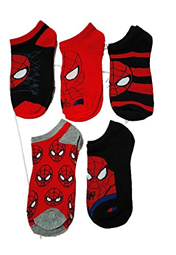 Marvel Ultimate Spider-Man Boys Ankle Socks 5 Pack for Boys Shoe Size 12 to 5 (Marvel Shoes Men compare prices)