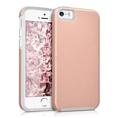 kalibri-Armor-Schutzhlle-fr-Apple-iPhone-SE-5-5S-Hybrid-Dual-Layer-TPU-Silikon-Schale-und-PC-Case-in-Rosegold