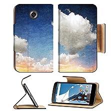 buy Msd Motorola Google Nexus 6 Flip Pu Leather Wallet Case Vintage Grunge Clouds Background With Light Leak Image 21260933