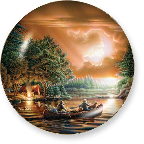 Evening Rendezvous by Terry Redlin 8.25 inch Decorative Collector Plate