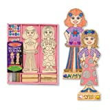Melissa & Doug Wooden Fashion Dolls