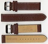 Invicta Genuine Unisex 20mm Brown Leather Watch Strap ISBR20