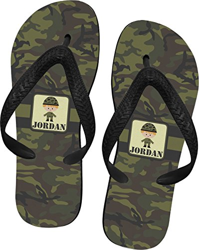 Green Camo Flip Flops - Extra Small front-671316