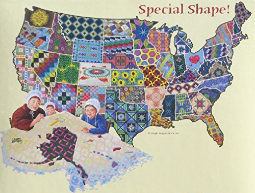 An American Quilt - 600 Piece Shaped Jigsaw Puzzle By Sunsout Inc.