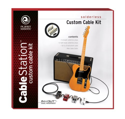 Planet Waves Solderless Custom 50ft Cable Kit with 10 Plugs