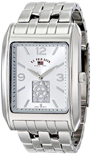 U.S. Polo Assn. Classic Men'S Us8441 Silver Dial Silver-Tone Bracelet Watch
