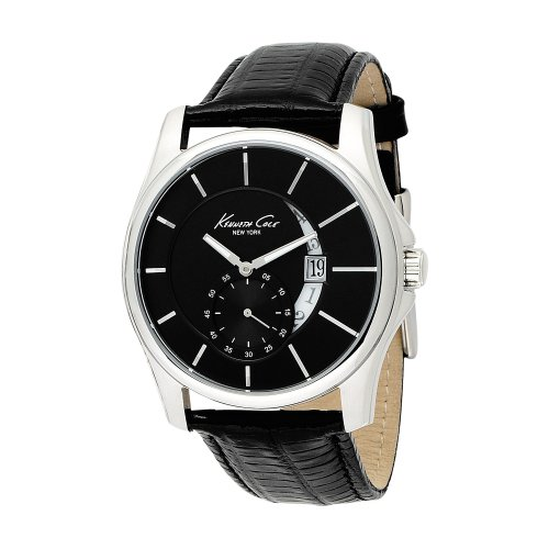Kenneth Cole Kc1600 Mens Black Leather Strap Watch