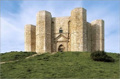 impresion-en-madera-100-x-70-cm-das-schloss-castel-del-monte-de-everett-collection