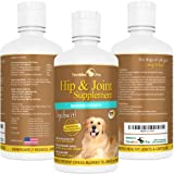 #1 Liquid Glucosamine for Dogs with Chondroitin MSM & Hyaluronic Acid - Safe & Natural Arthritis Pain Relief for Dogs! Extra Strength Dog Supplements for Joints and Hips - Liquid Joint Supplements for Dogs Absorb Better than Chewables or Powders - Strong H