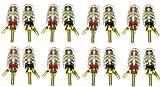 BHC-STL16 スピーカーターミナル バナナプラグ対応 金メッキ 通常配線接続端子 【42mmサイズ 】 16個セット