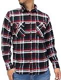(ルーシャット) ROUSHATTE シャツ メンズ 長袖 チェックシャツ 16color M チェック4