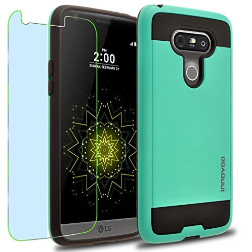 LG G5 / H850 / LS992 Case, INNOVAA Elite Hybrid Series Case W/ Free Screen Protector & Touch Screen Stylus Pen - Teal