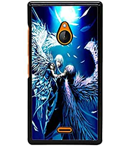 ColourCraft Angels Couple Design Back Case Cover for NOKIA XL