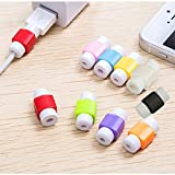#8: Memore Lightning Charger Cable Saver Protector for Apple iPhone Laptop Macbook Charge Cable Saver and Fixer Charge Cable Saver and Fixer. (10 Pieces)