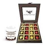 Valentine Chocholik Luxury Chocolates - Always Close To My Heart Chocolates With Friendship Mug
