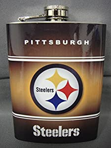 Pittsburgh Steelers Classic Logo Stainless Steel 8oz Flask