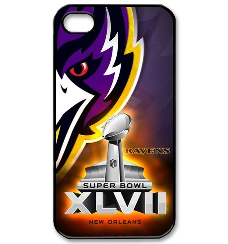 Iphone 4/4s Case With 2013 Nfl 47th Super Bowl Xlvii Champion Winner Baltimore Ravens Logo Picture