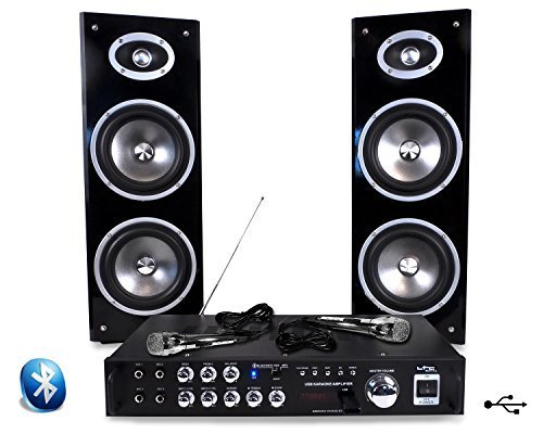 Karaoké ampli 80 W + 2 enceintes + 2 mic LTC STAR3
