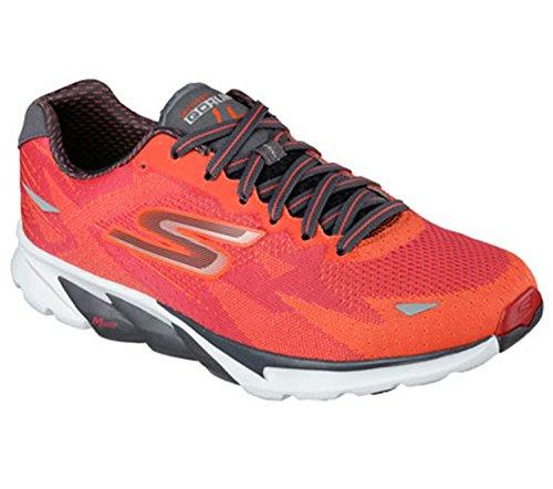 Skechers Men's GOrun 4 2016 Running Shoe,Red/Orange,US 9.5 M