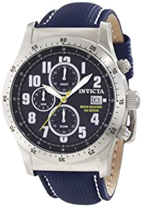 Invicta Men's 1317 Specialty Chronograph Navy Dial Blue Techno Watch
