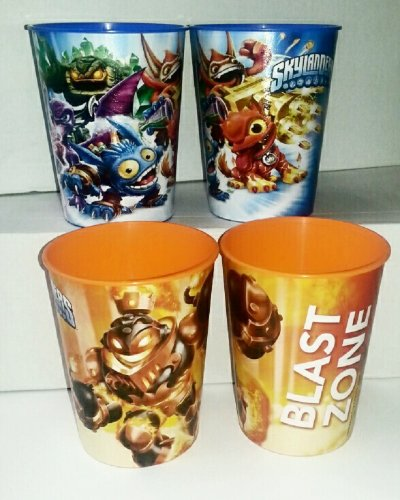 Skylanders 16oz Plastic Stadium Keepsake Cups - includes 2 different style cups