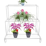 Dazone フラワースタンド 鉄製 3階鉢置き台 アンチーク花台 花台 3段 (白)