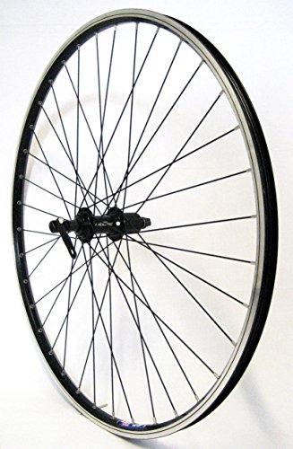 26 Zoll Fahrrad Laufrad Hinterrad Hohlkammerfelge CUT19 Shimano Deore 610 schwarz 8/9/10-fach für V-Brakes / Felgenbremse