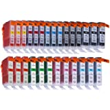 24 Pack Compatible Canon CLI-8 3 Small Black, 3 Cyan, 3 Green, 3 Light Cyan, 3 Light Magenta, 3 Magenta, 3 Red, 3 Yellow for use with Canon PIXMA Pro 6000, PIXMA Pro 9000, PIXMA Pro 9000 Mark II, PIXMA 6500. Ink Cartridges for inkjet printers. CLI 8C , CLI 8M , CLI 8R , CLI 8Y , CLI-8 C , CLI-8 M , CLI-8 Y , CLI-8C , CLI-8M , CLI-8R , CLI-8Y , CLI8 C , CLI8 M , CLI8 Y , CLI8C , CLI8M , CLI8R , CLI8Y © Blake Printing Supply