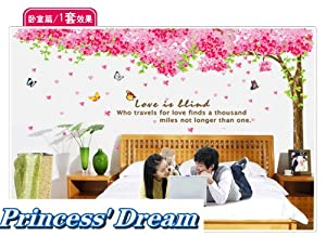 Princess' Dream -- Huge Sakura Flower Cherry Blossom Tree Wall Sticker Decal 90