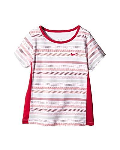 Nike T-Shirt Manica Corta Essentials Ss [Bianco/Rosa]