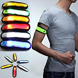 Avive LED ARM BAND REFLECTOR /SAFETY BAND WITH WAIST BELT ADJUSTABLE FOR CYCLE,BICYCLE
