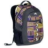 High Sierra Opie Backpack, Purple Pattern, 18.5x12.5x8.5-Inch